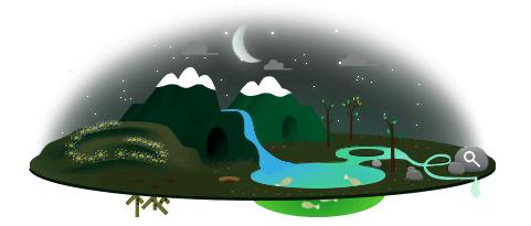 google eardh night doodle