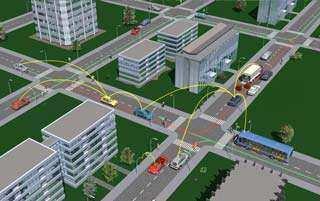 BMW 3D Car2Car CityScenario
